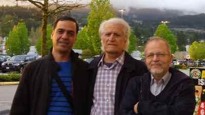 از راست: کامبیز روشن روان، احمد پژمان