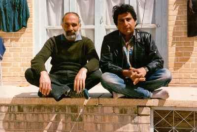از راست: مصطفی دشتی، علی گلستانه