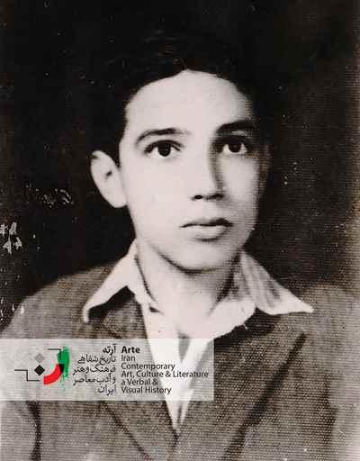 ایرج پارسی نژاد در سن ۷ سالگی