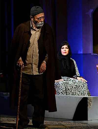 علی نصیریان - نمایش آدم خوابش میگیر ،هنویسنده: علی نصیریان، کارگردان: محسن معینی