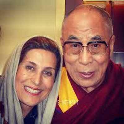 دالایی لاما (رهبر بودایی های تبت)، فاطمه معتمد آریا- دانشگاه مریلند