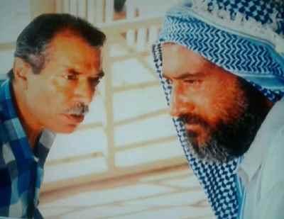 از راست: داریوش ارجمند، علی نصیریان - فیلم ناخدا خورشید،  کارگردان: ناصر تقوایی