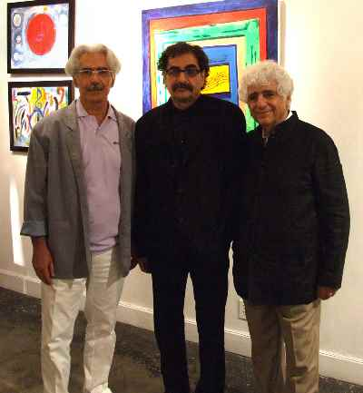 از راست: لوریس چکناواریان، شهرام ناظری، علی فرامرزی- لوس آنجلس - سال 1391