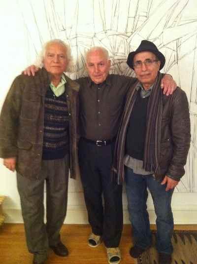 از راست: بهرام بهرامی ، سیراک، بهمن مقصودلو