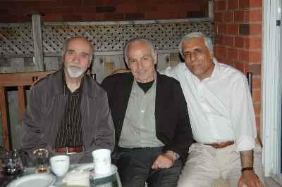از راست: حسن زرهی، سیراک ملکنیان ، رضا براهنی