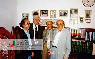 حسین خطیبی - آقای نفیسی (شهردار) - ایرج پارسی نژاد - محمد رضا شفیعی کدکنی