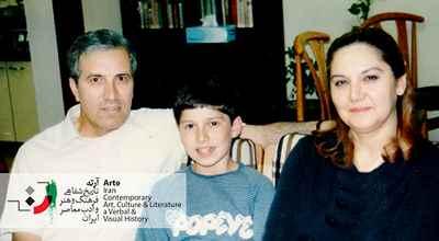 ایرج پارسی نژاد به همراه پری پزشکی (همسر) و پسرش