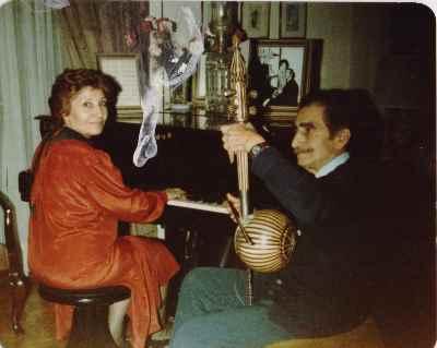 فخری ملکپور به همراه علیاصغر بهاری