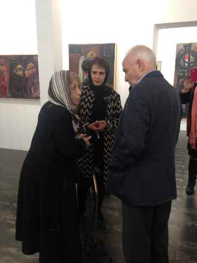 از راست: سیراک ملکنیان، آریا اقبال، ایران درودی