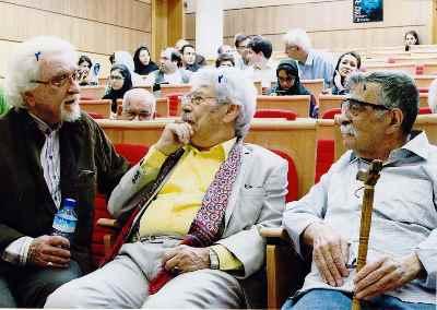 از راست: عبدالله انوار، داوود رشیدی، داریوش شایگان