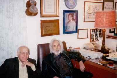 از راست: بابک بیات، محمد سریر