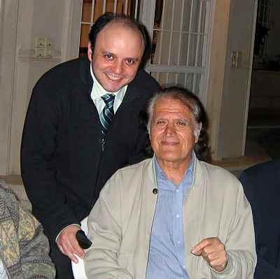از راست: احمد پژمان، مازیار حیدری