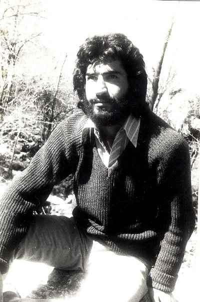 علی فرامرزی  در دوران جوانی- سال1351