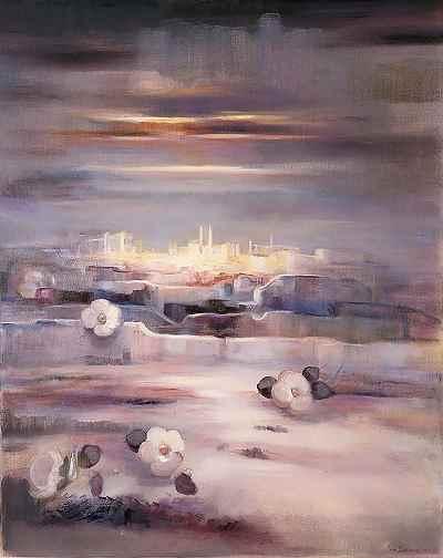 گل پندار، در شب ديدار - ابعاد 73×92- سال1993