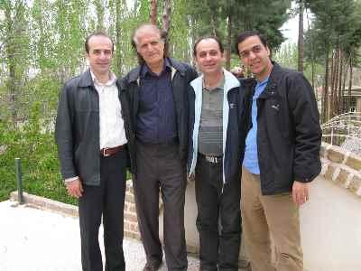 از راست: امیر اسلامی، جانعلی بلبلی، احمد پژمان، دانیال حمیدی