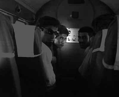 منظورالحق ، گارنيك در هاكوپيان ، بهمن بروجني داخل هواپيما - سفر آقاجاري به مسجدسليمان ، سال- ١٣٤٣-٤٤