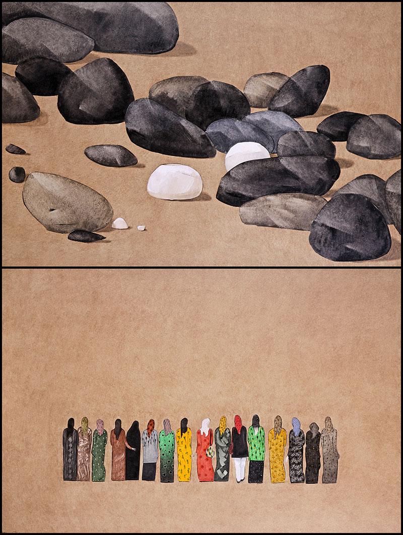 مجموعه آثار رنگ و روغن روی بوم - سال ۸۵ تا ۹۰
