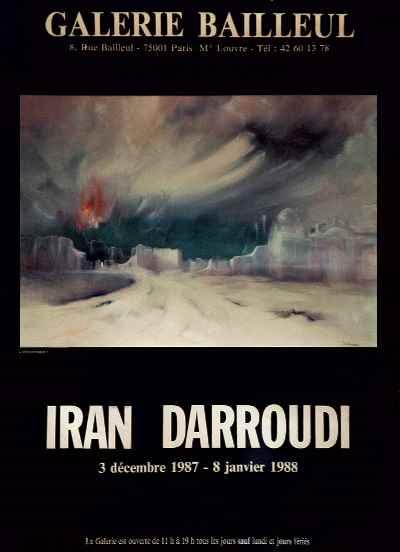 پوستر نمایشگاه نقاشیهای ایران درودی-سال1987