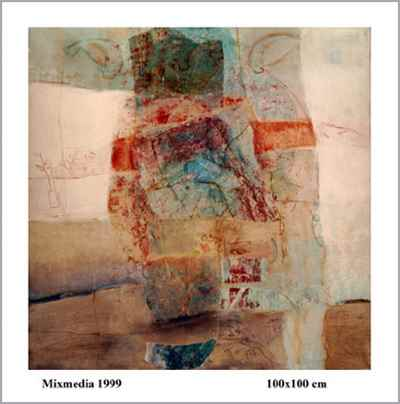 مجموعه ترکیب مواد روی بوم ۱۳۷۵
