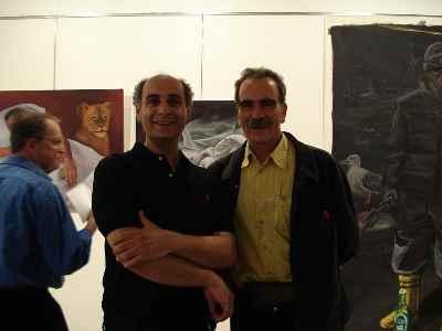 از راست: بهمن بروجنی، محمد حسین ماهر