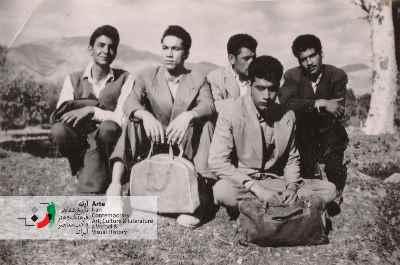 فریدون جنیدی به همراه دوستان دوران دبیرستان