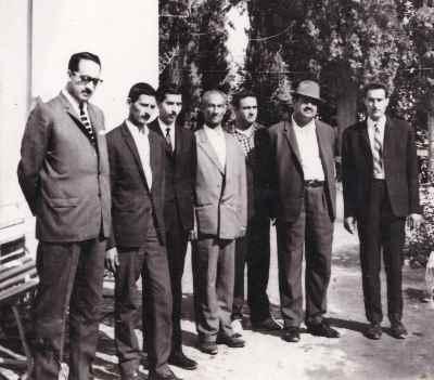 نفر اول از سمت چپ عبدالوهاب شهیدی