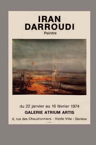 پوستر نمایشگاه نقاشیهای ایران درودی - سال 1974