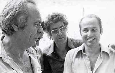 از راست: سیراک ملکنیان، غلامحسین نامی، مارکو گریگوریان -تهران اعضای گروه آزاد - سال 1974