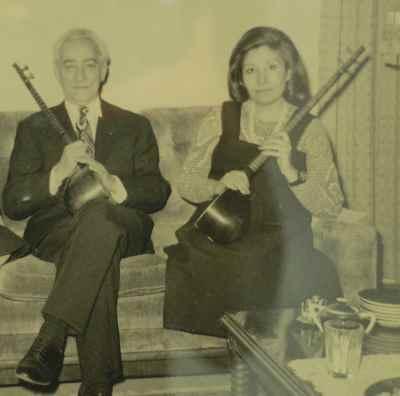 احمد عبادی و نصرت عبادی(همسر احمد عبادی)
