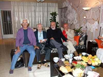 از راست: جواد مجابی، آیدین آغداشلو ، محمود دولت آبادی ، علی فرامرزی- سال 1393
